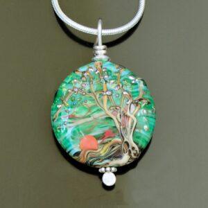 Colorful Tree Pendants