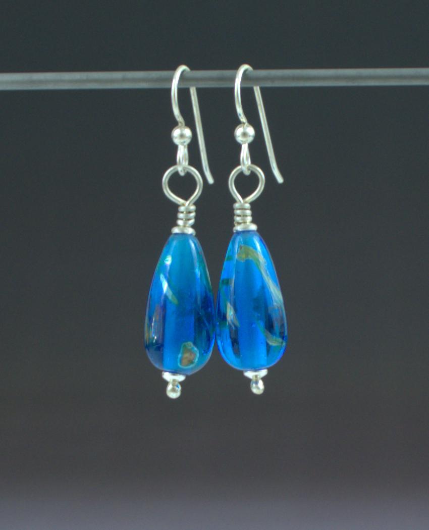 Ocean Blue Earrings Front