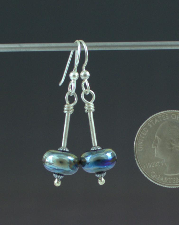 Blue Splendor Earrings Back