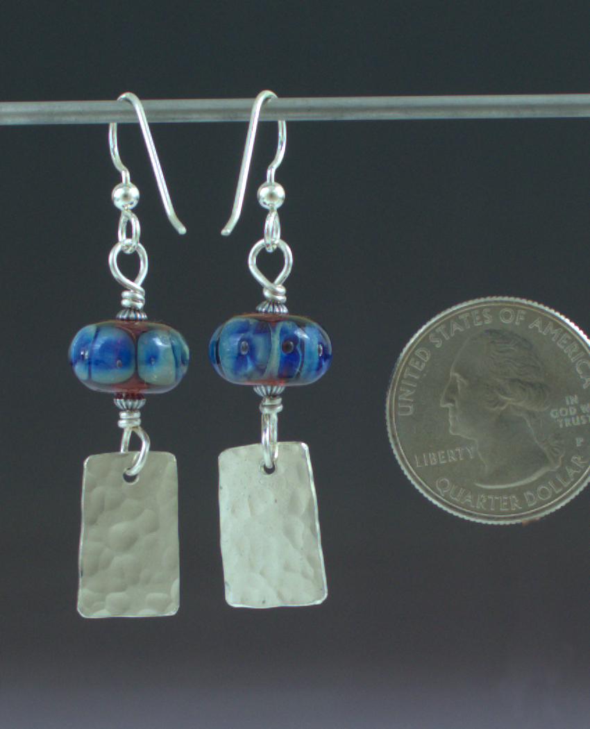 Blue Fire Earrings Back