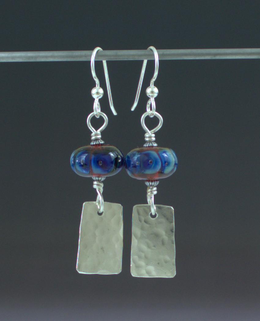 Blue Fire Earrings