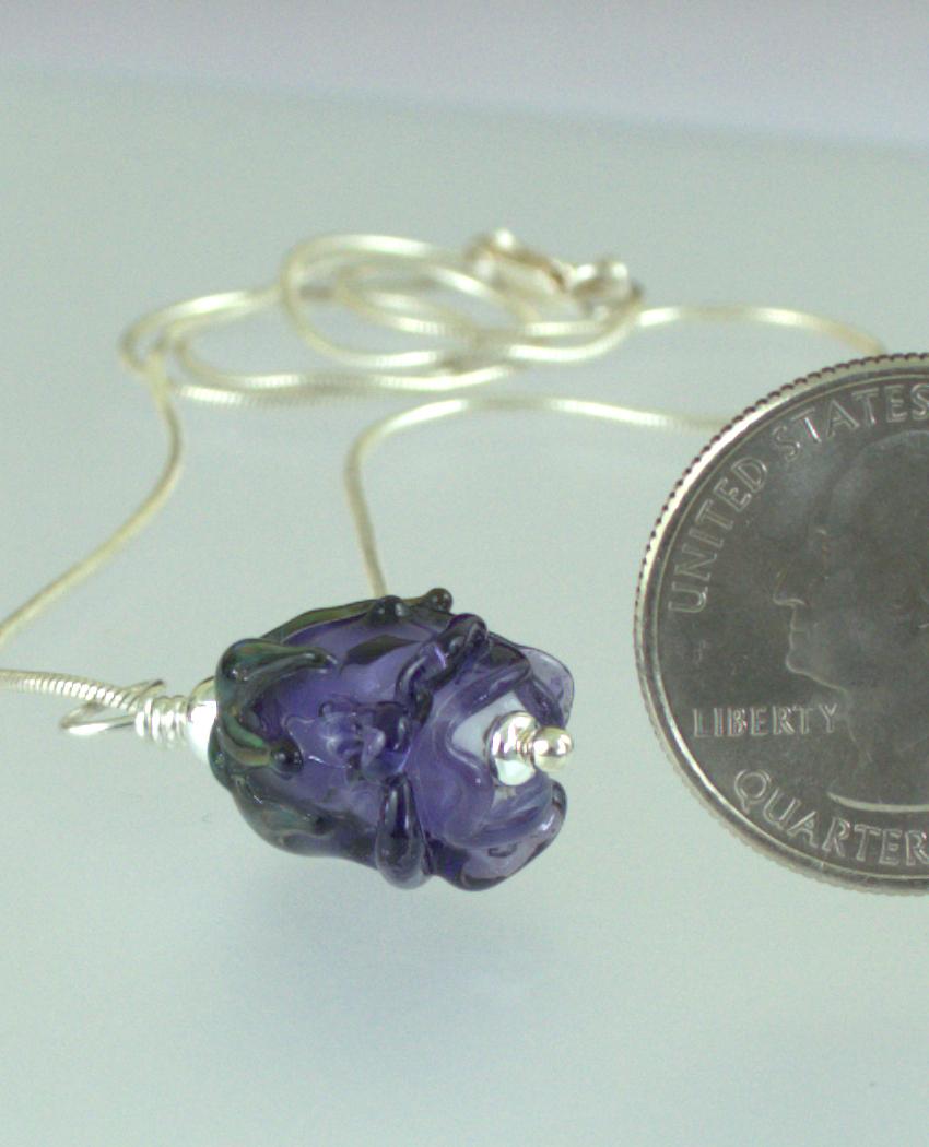 Purple Rose Pendant Back