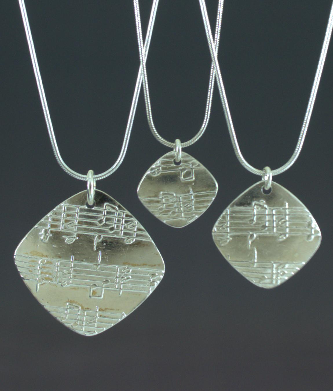 Amazing Grace Fine Silver Diamond Pendants