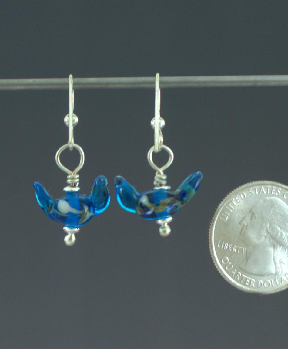 Bluebird Earrings Back